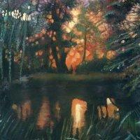 PRINT Sunset at the Pond