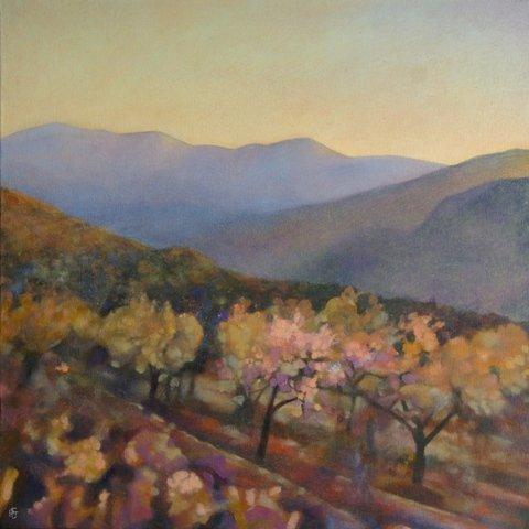 Almond Blossom Time. Val